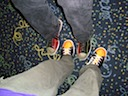 Aaron and Ryan bowling feet